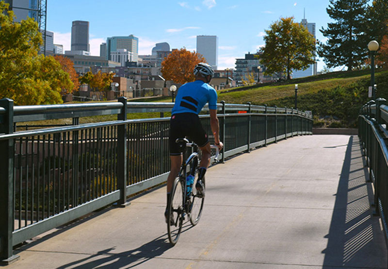 Miles of walking & biking trails take you through the city and parks