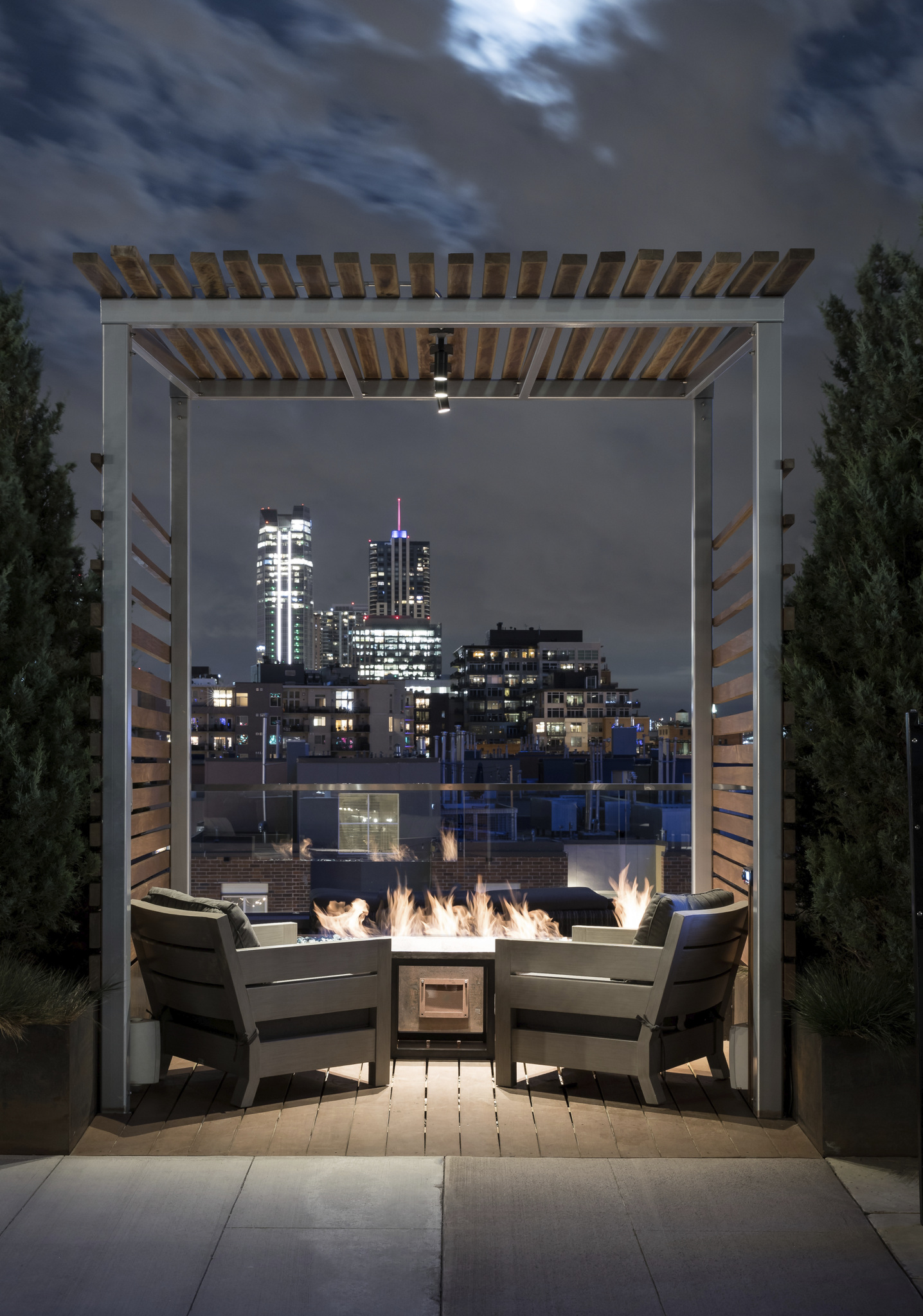 Private Cabana with Firepit and Bluetooth Connectivity